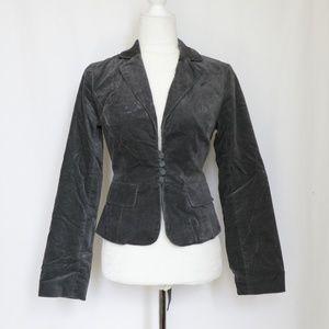 Guess Jeans Gray Velvet Blazer Jacket  size Small